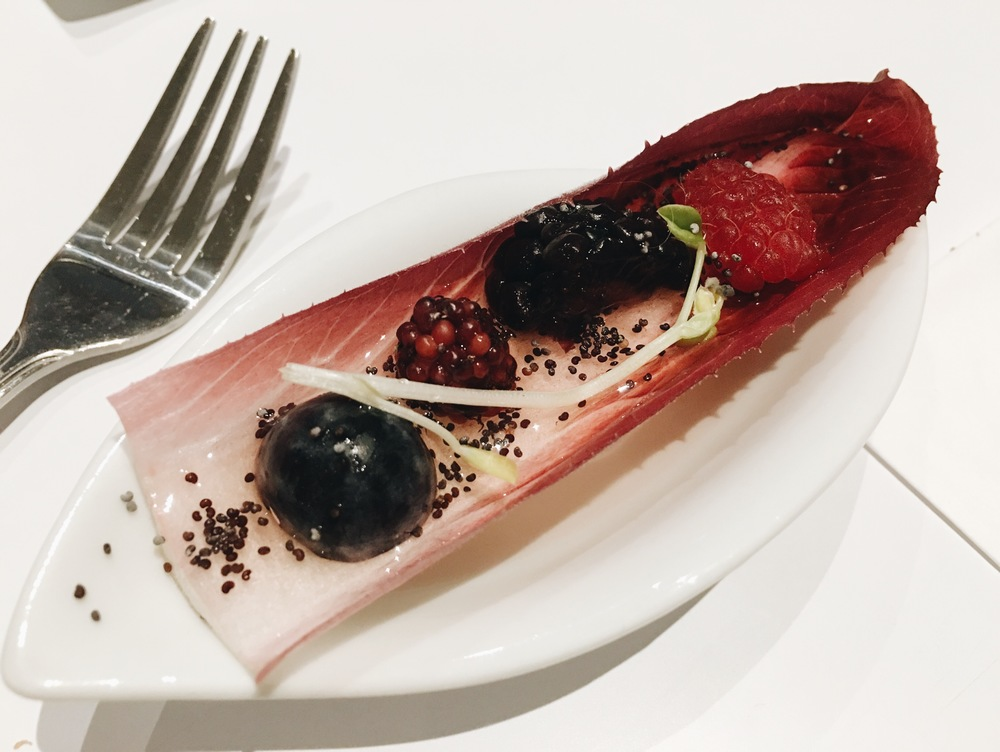 Endive with Berries