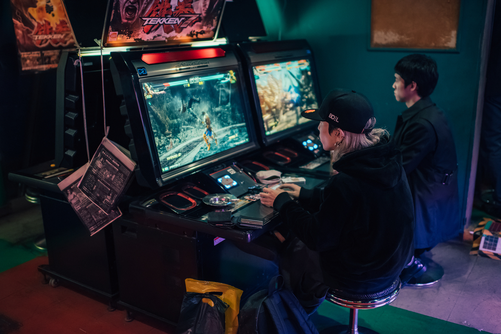 Late night arcade.