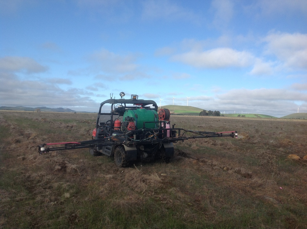 Pre and post plant spraying in forestry and revegetations sites.
