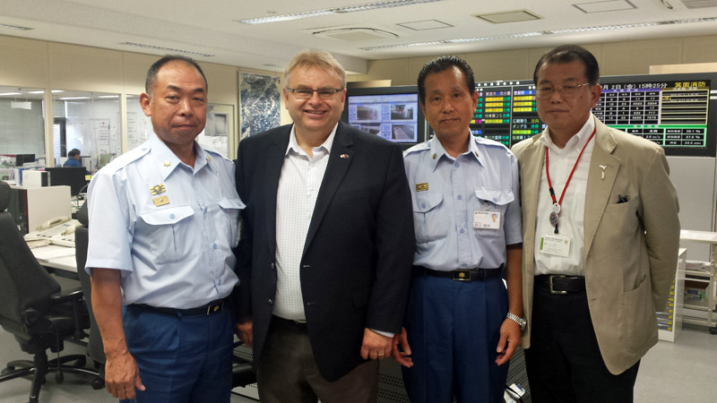 At the Minoh City Emergency Operations Centre.