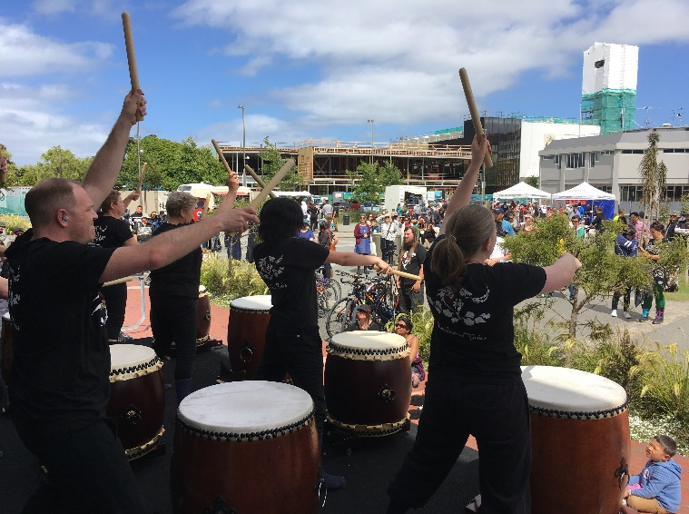 Narukami Taiko in Hutt Japan Day