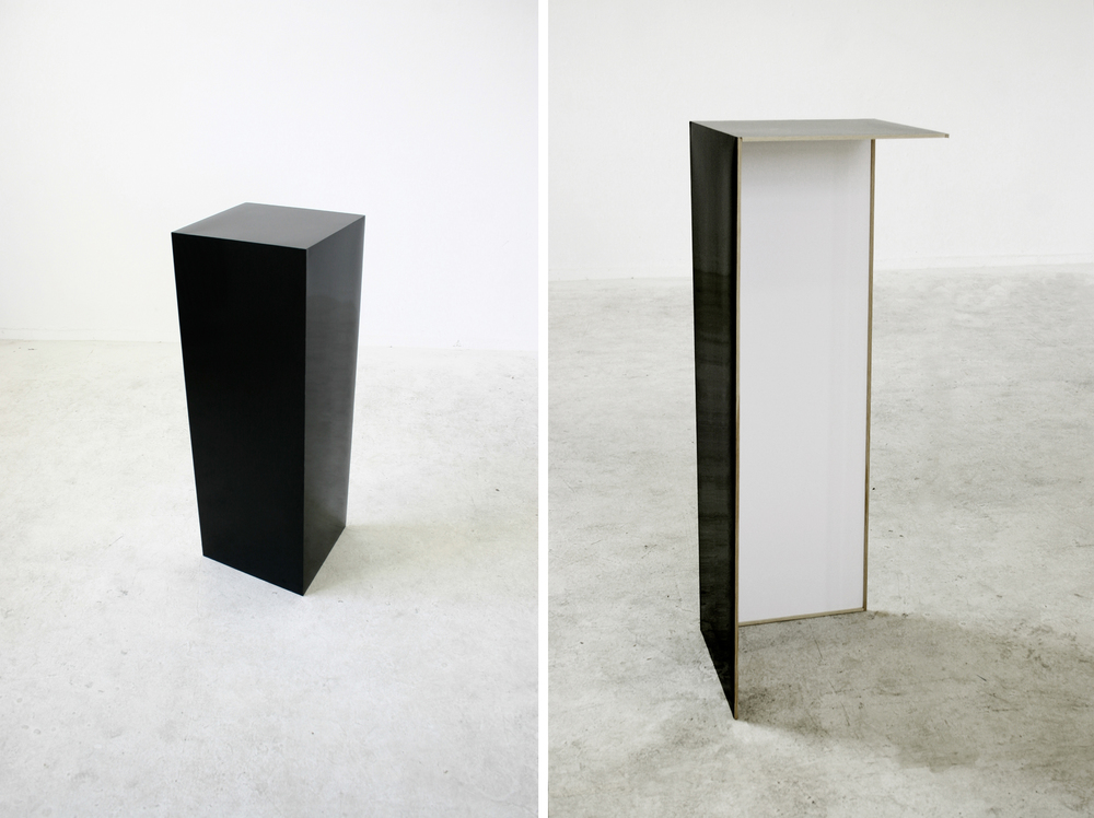 Pedestal   paper, wood (100x35x35cm).2009