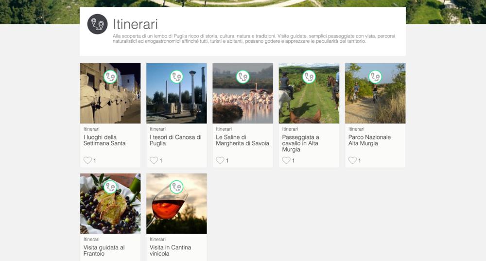 Sezione itinerari di VisitBat.it