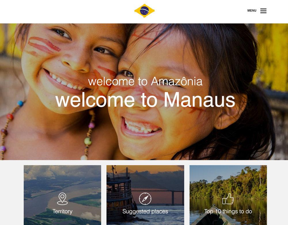 Home page della guida di Manaus