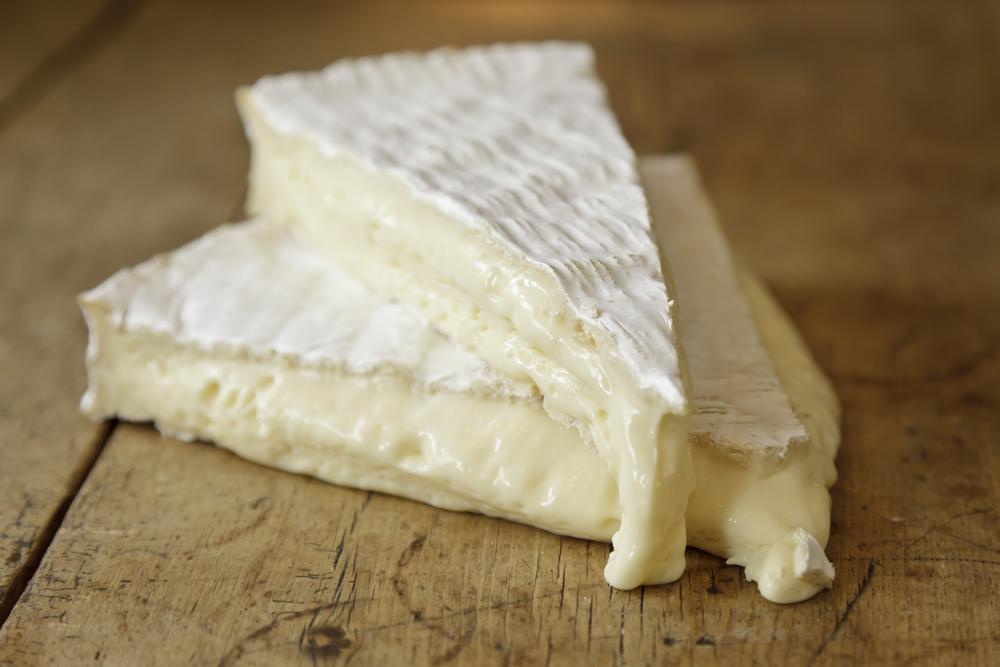 Deli delicious Brie de Meaux; perfectly ripe