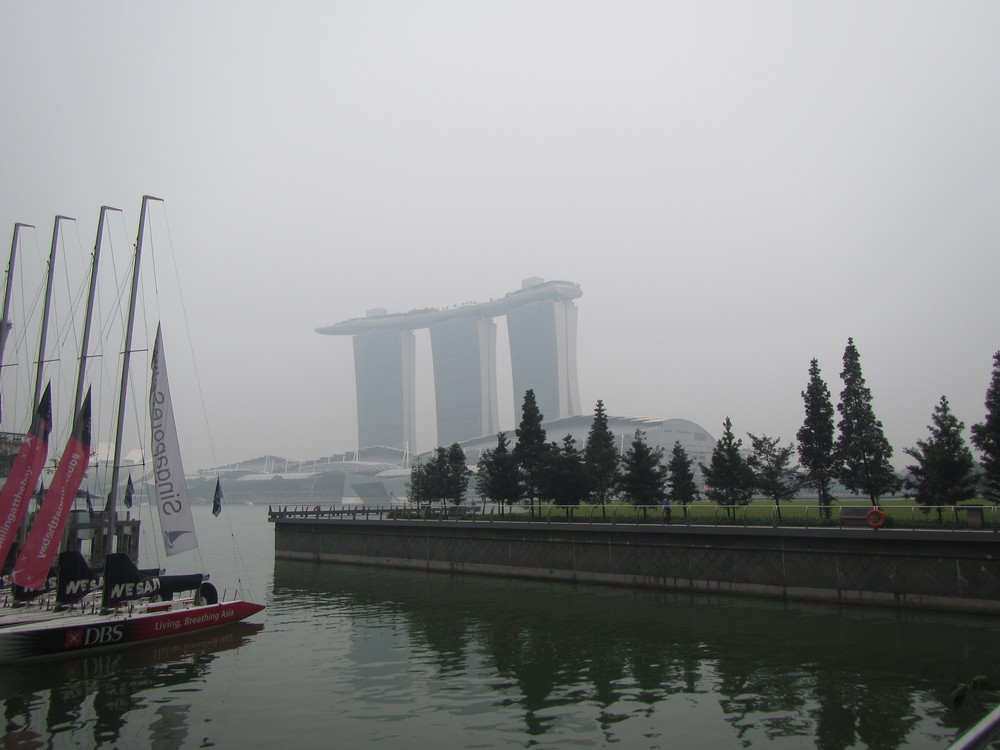 The Marina Bay Sands is under there somewhere..
