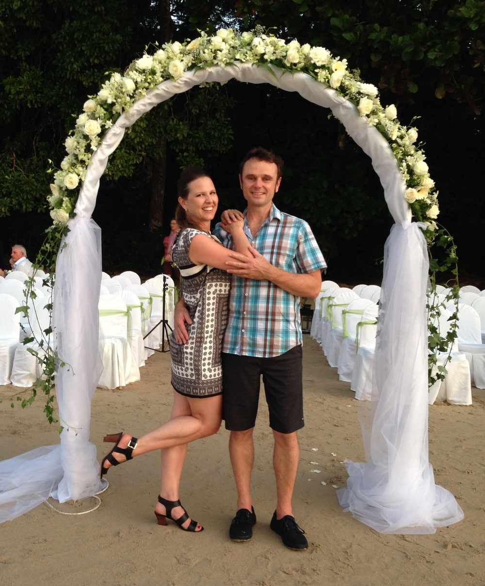 That time we hijacked the wedding arch...