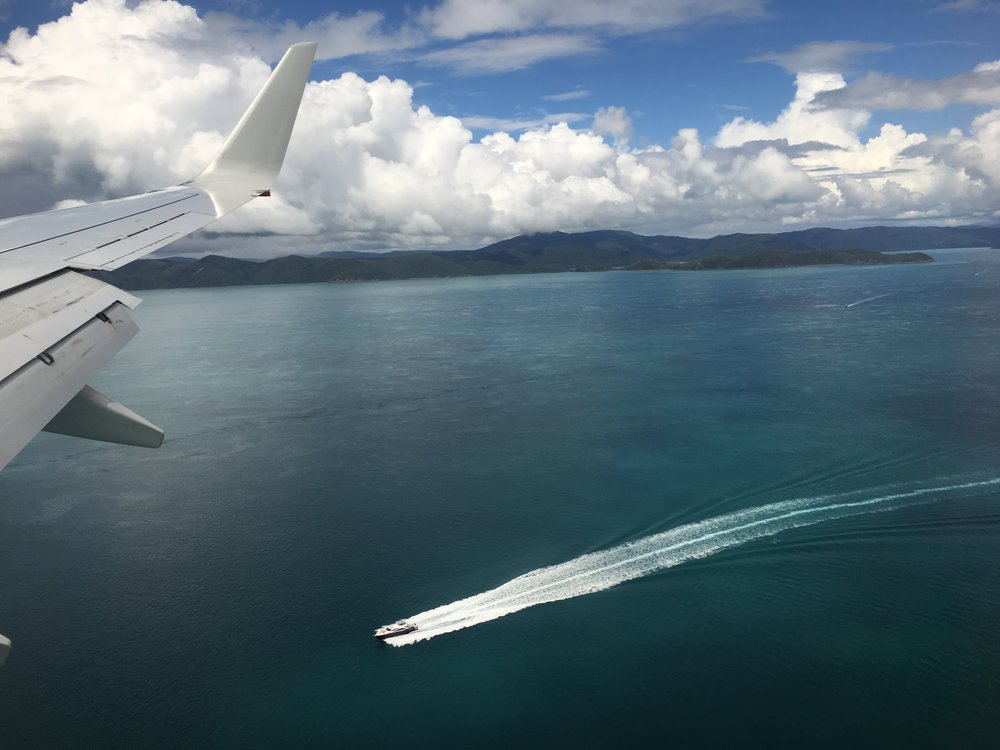 Flying in to Hamilton Island is an experience in itself!