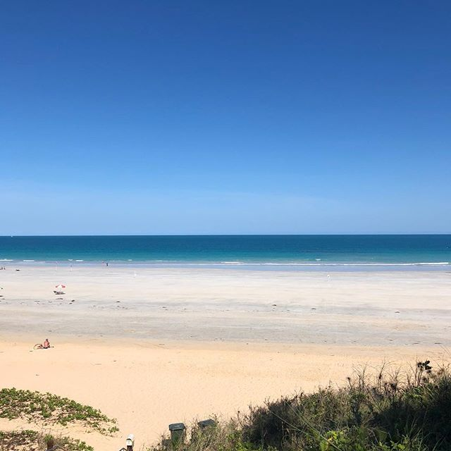 The photos don't do the colour of the water justice...so much blue at Cable beach Broome.