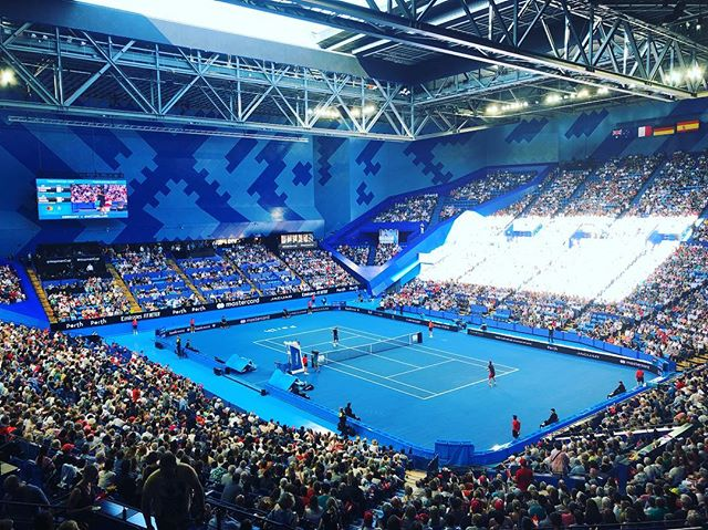 The roof is open and the final is about to start... Hopman Cup 2019!