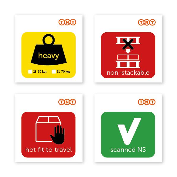 stickers voor pakketten