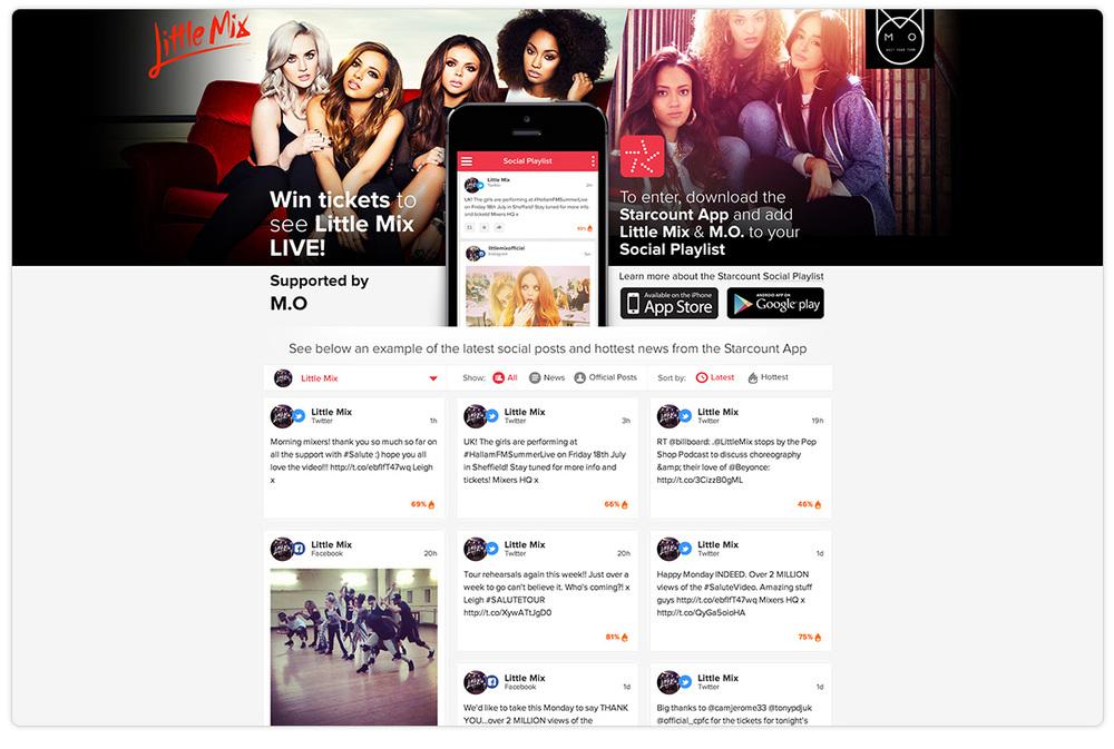 Little Mix Splash Page