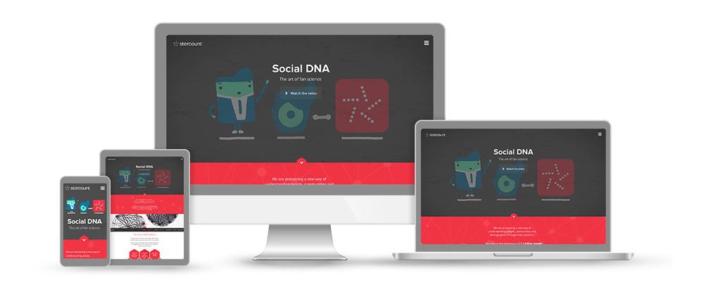 Starcount Social DNA responsive web design