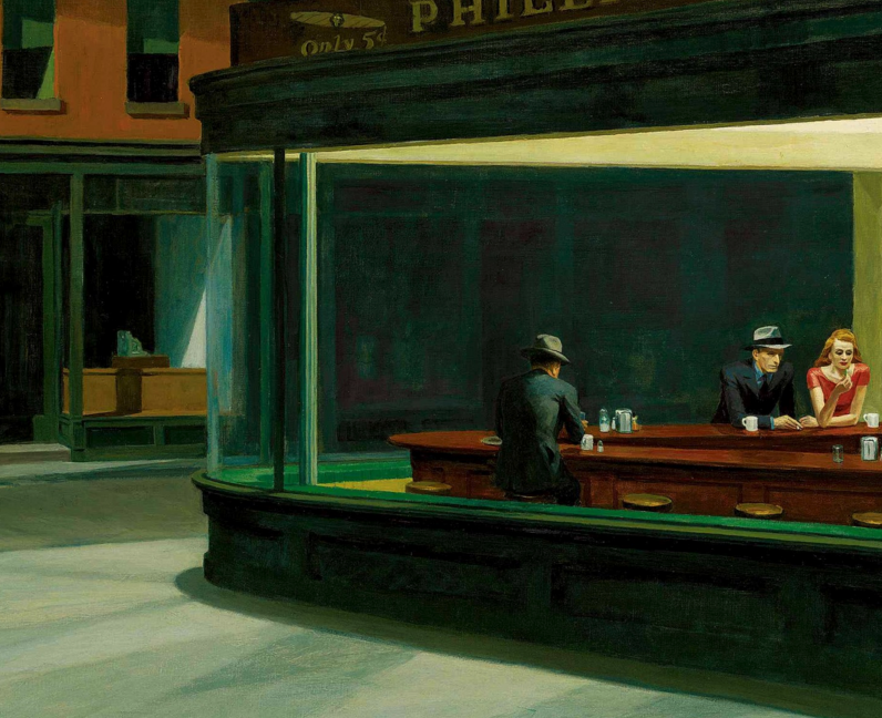 Edward Hopper x The london mural company