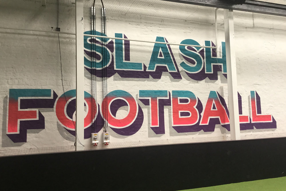 The London mural Company x Slash Football x GARY X Brave bison
