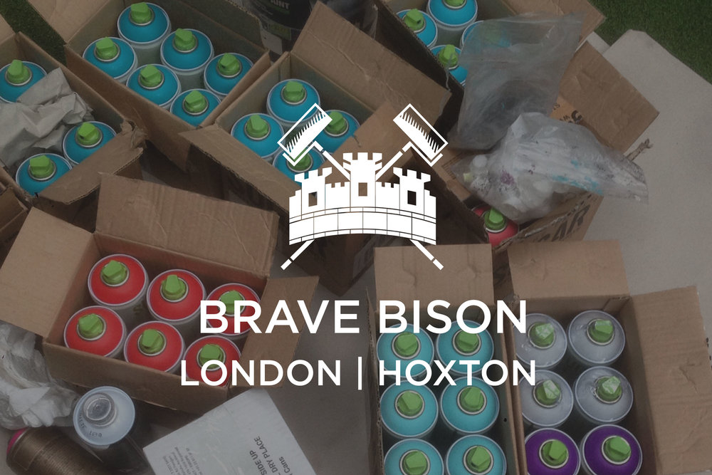 Brave Bison X The London Mural Company