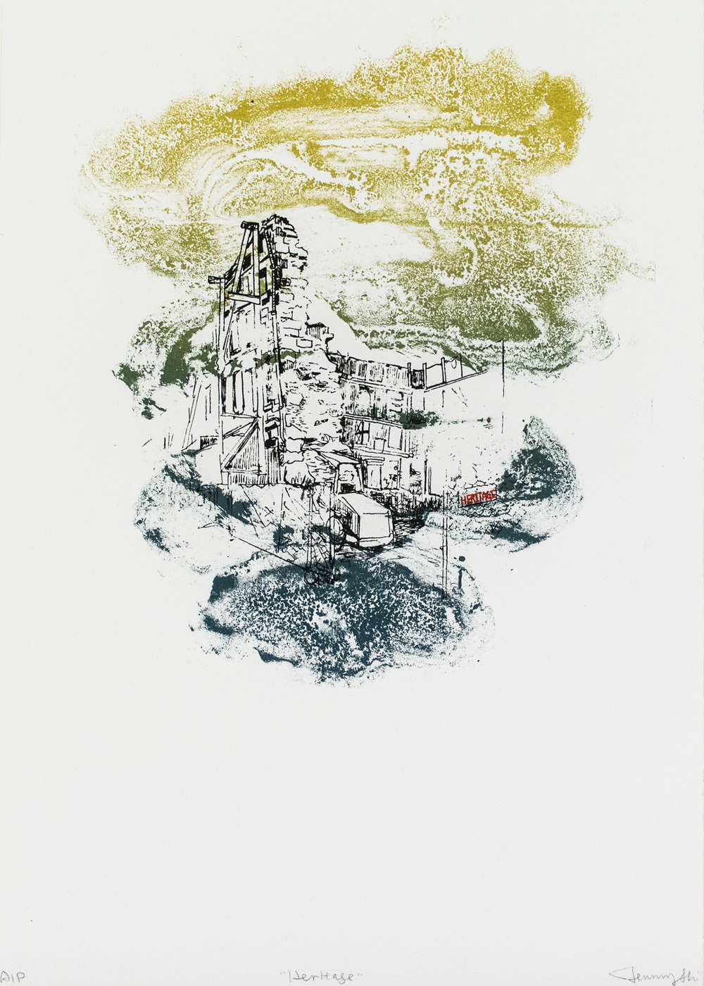 Arrival , Silkscreen (丝网), 18x26 inches, edition of 36, 2014