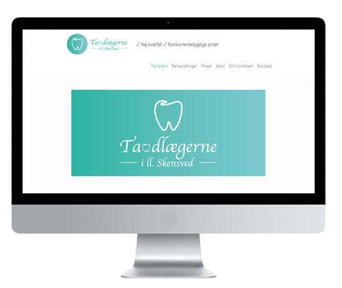 Grafisk design af hjemmeside Case