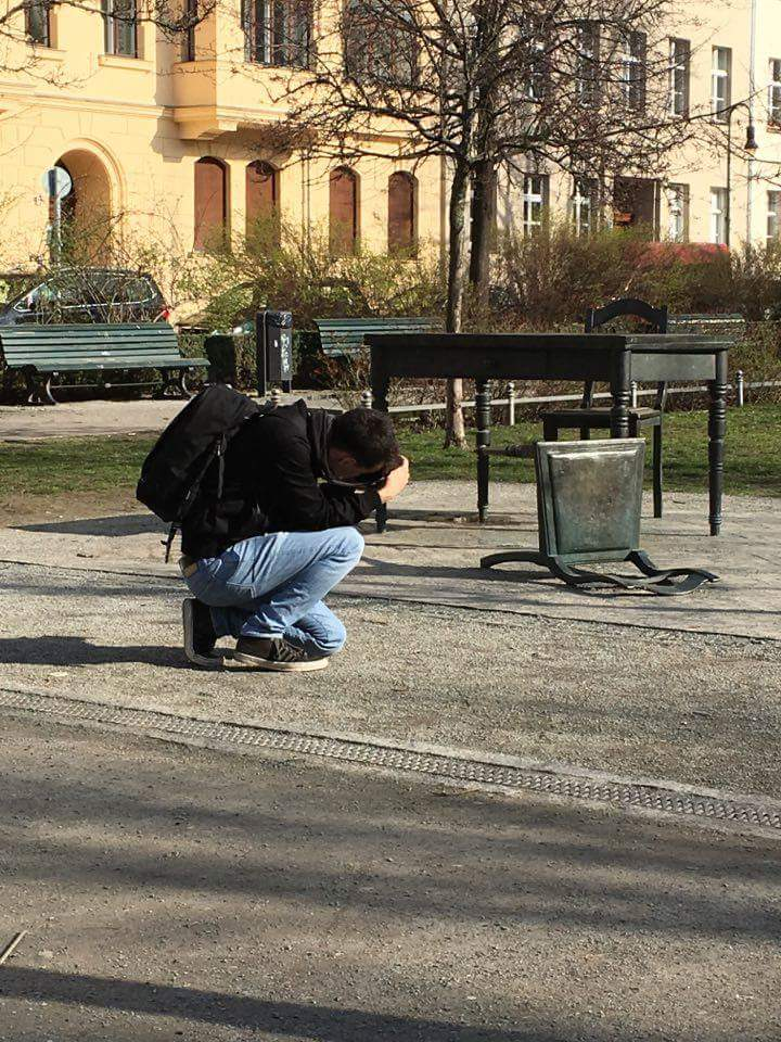 Photographer in action, Berlin