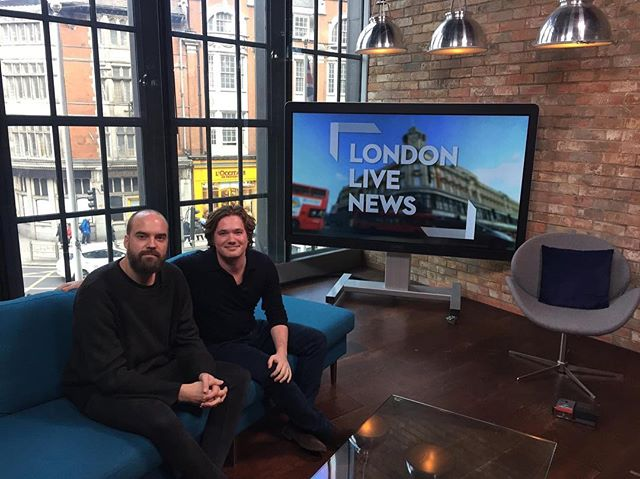 On London Live TV today talking about our movie The Man With Four Legs. Fun / petrifying!