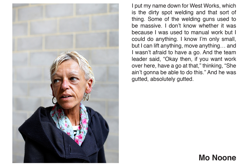 Mo Noone from the series ' Women of Longbridge' by Hannah Hull and Stephen Burke.