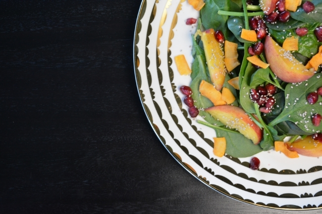 Peach Salad Recipe | Buddha Brands Co.