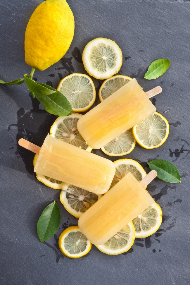 Lemon Chamomile Coconut Water Popsicles | Buddha Brands Co.