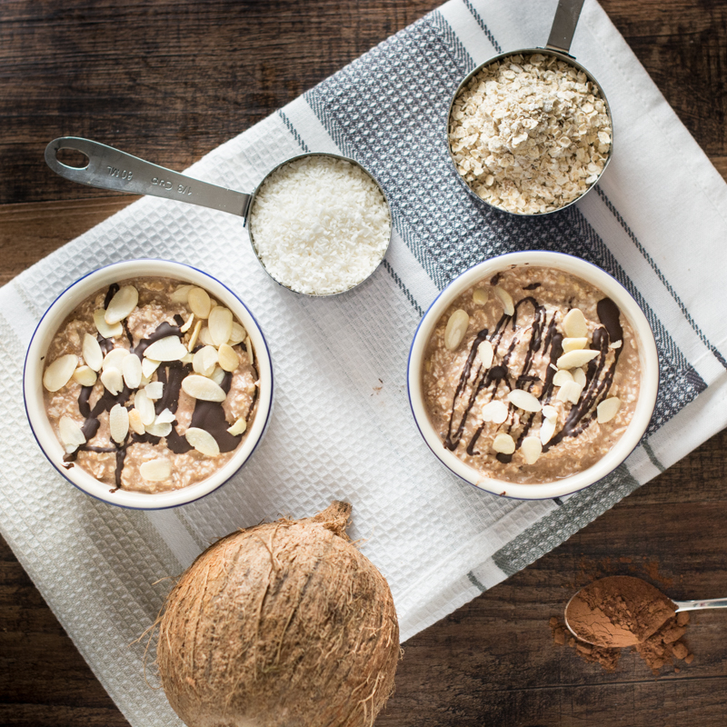 Chocolate Coconut Overnight Oats | Buddha Brands Co.