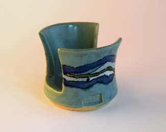 Turquoise Shoreline Sponge Pot