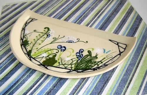 Garden Design Half Moon Plate