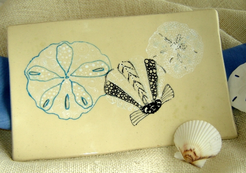 Sea Shell Zentangle Platter