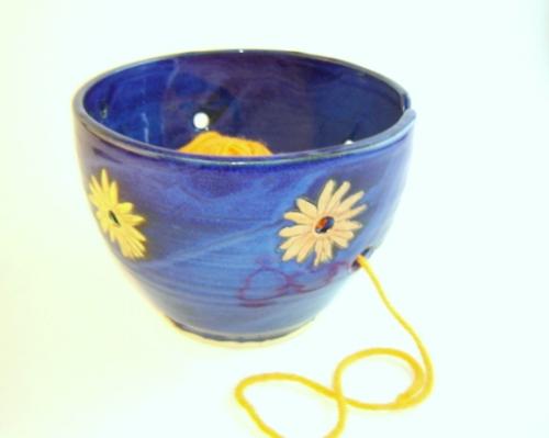 Floral Yarn Bowl