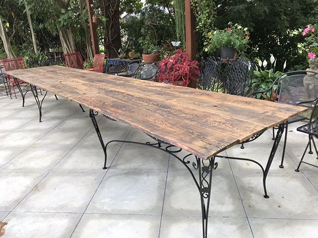 How many people could you fit at this outdoor table for a dinner party? ⠀ .⠀ We love that our custom furniture gets to play a role in your family memories! ⠀ .⠀ .⠀ .⠀ #villageofthearts #woodwork #handmade #customtable #handcrafted #furniture #oneofakind #interiordesign #homedesign #Customfurniture #rusticfurniture #statementpiece #srq #bradenton #lakewoodranch #sarasota #customhome #reclaimedwood #farmhouseinspired #farmhousestyle #shopsmall #shopsmallbusiness #shopsmallsrq #shopsmallbradenton #shoplocal #foresttofinish #forest2finish #f2f #f2fdesigns #foresttofinishdesigns