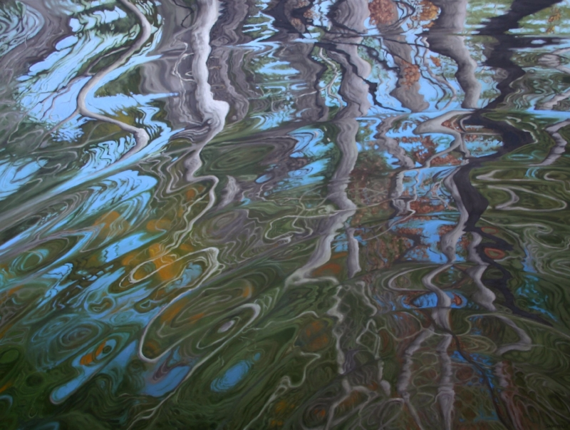 """Ripple""  48""x36"" Oil on canvas"
