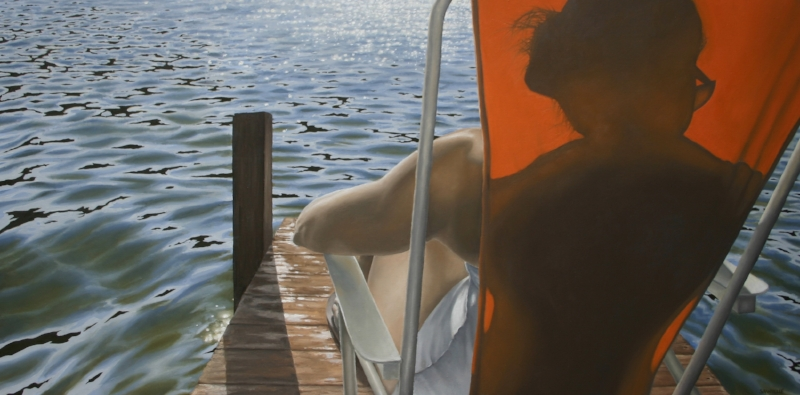 """Last Day at the Lake""  48""x24"" Oil on Canvas"
