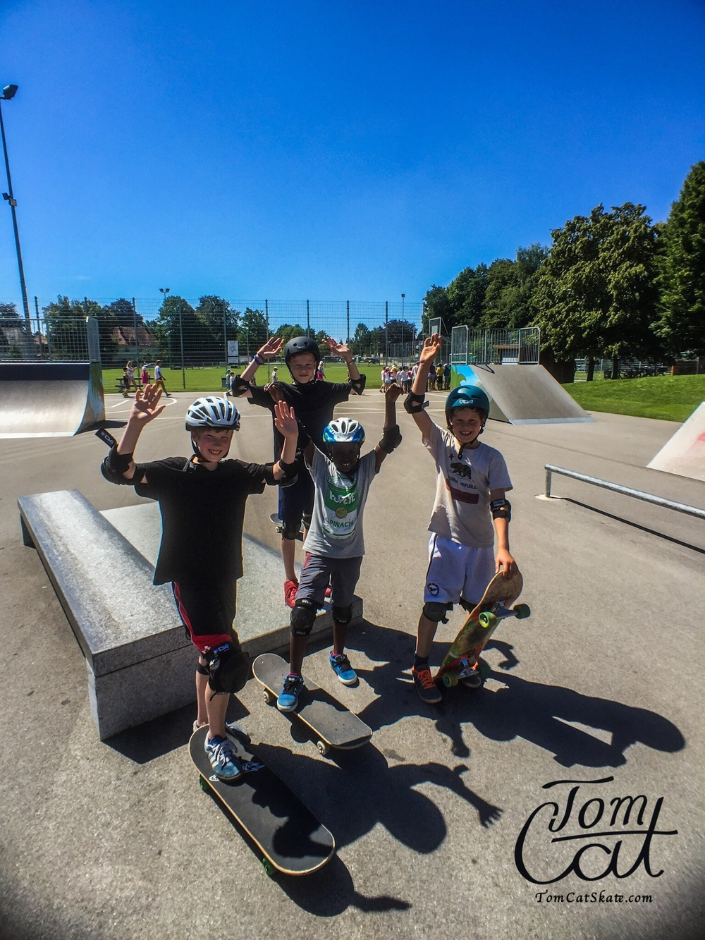 Skatekurs München Pullach mit Profi Skateboarder Tom Cat .JPG