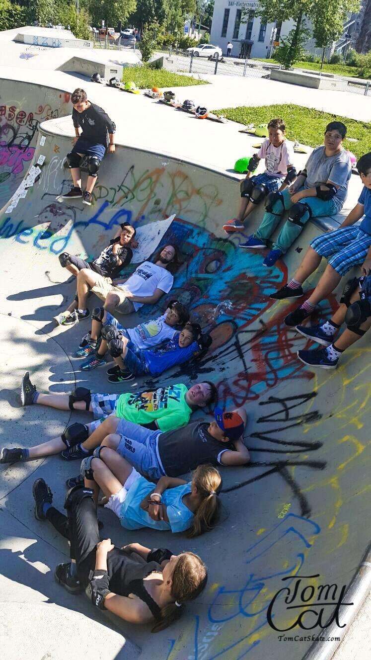 Skatekurs Bad Tölz Skaten Lernen mit Profi Tom Cat auch Longboardkurse im raum München, Bad Tölz, Lenggries  8.JPG