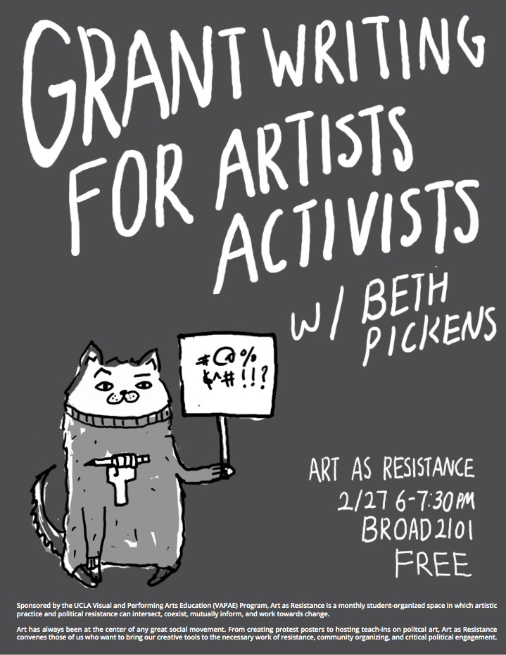 photo: grant writing workshop flyer