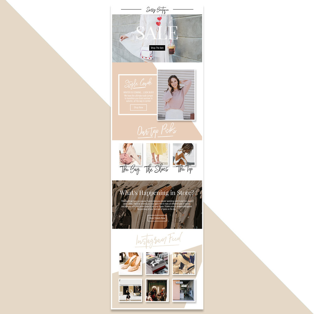 Customisable Newsletter Template Online Shop Ecommerce