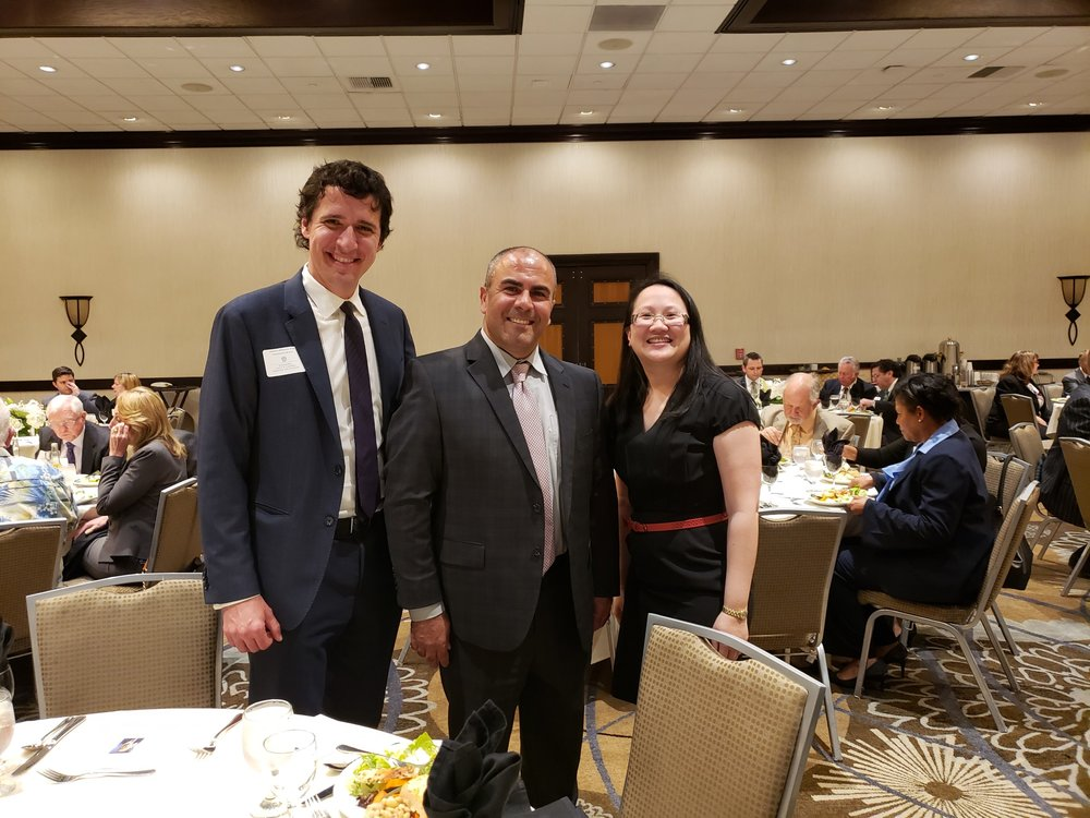 "(L-R) Joseph Widman (Assistant U.S. Attorney for the Central District of California and President-Elect of the Honorable Joseph B. Campbell American Inn of Court). Hon. Antoine ""Tony"" Raphael (San Bernardino Superior Court Judge), and L. Alexandra Fong, President of the Leo A. Deegan American Inn of Court"
