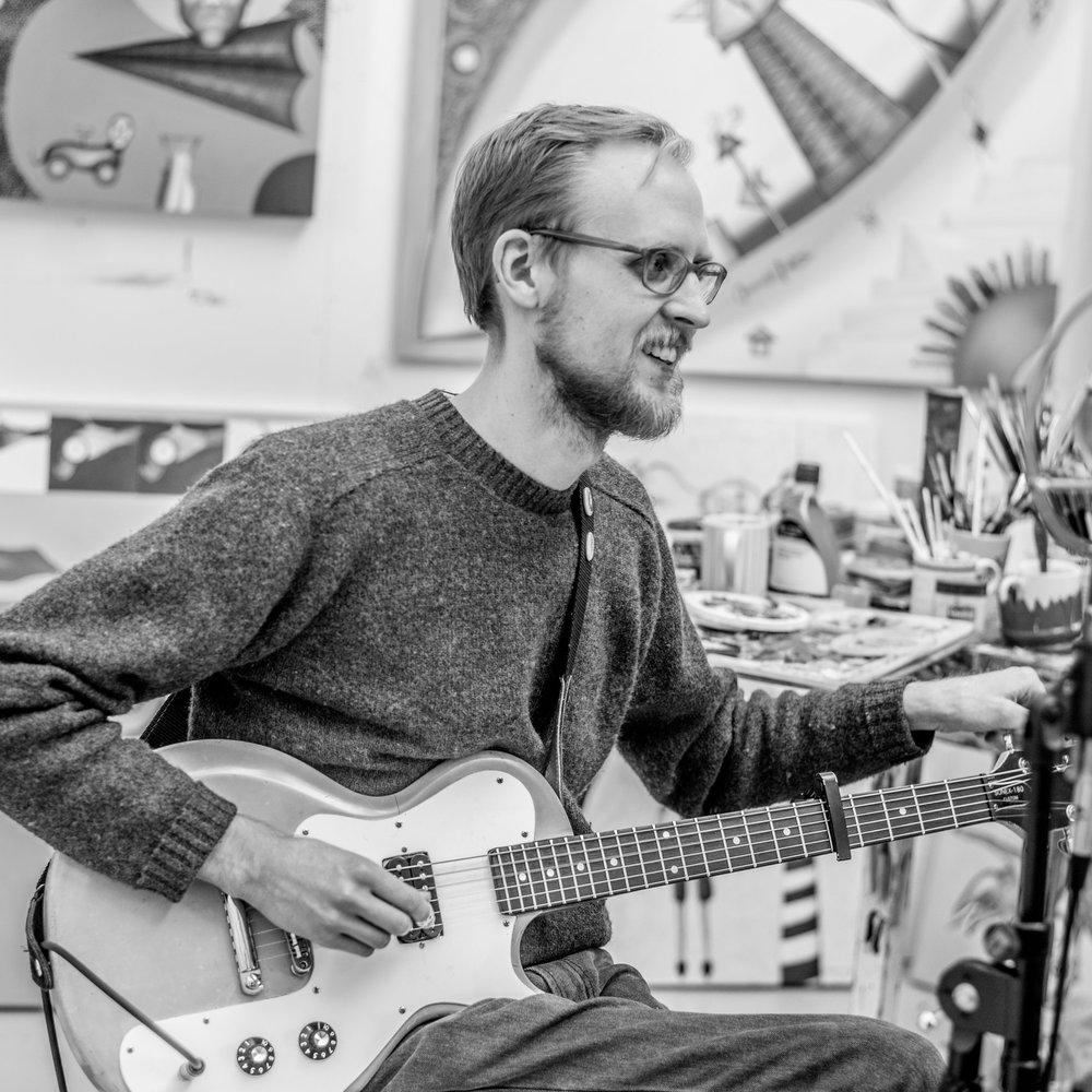 Sam Moss Guitar in Studio- b&w ©2018 Brian Carroll.jpg