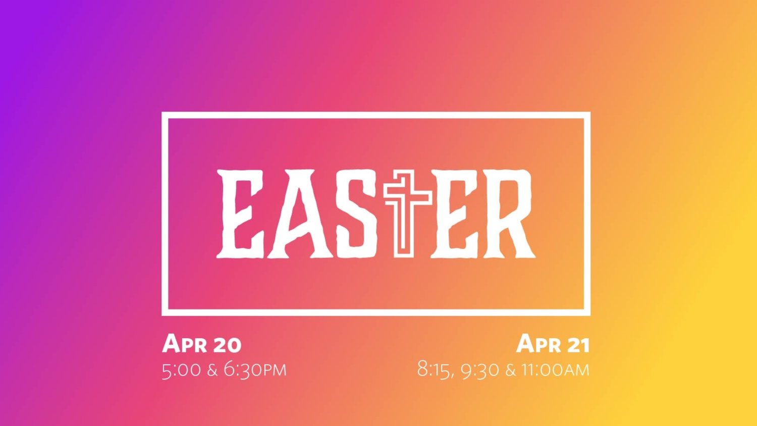 Easter Service & Food Drive — WFC Leavenworth