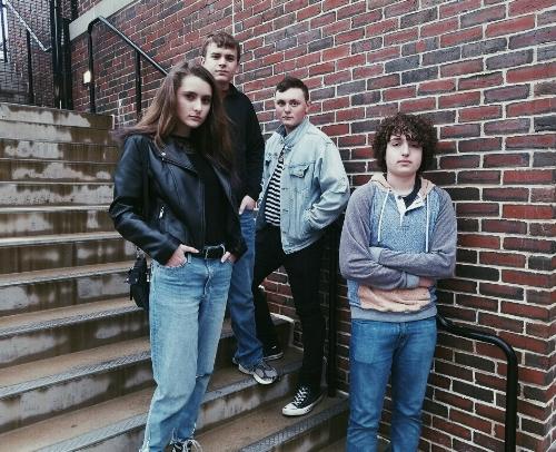 Kacie with (l-r) Spencer, Nick & Zach