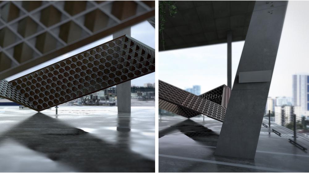 "architectural pavilion ""HUB"""