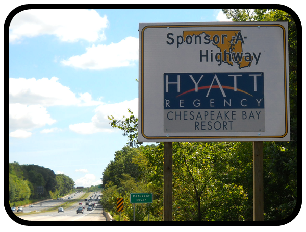Hyatt Adopt A Highway sign