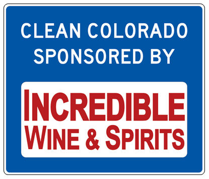 Incredible Wine & Spirits Adopt A Highway sign