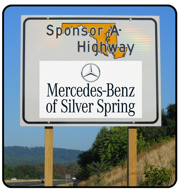 Mercedes-Benz Sponsor A Highway sign