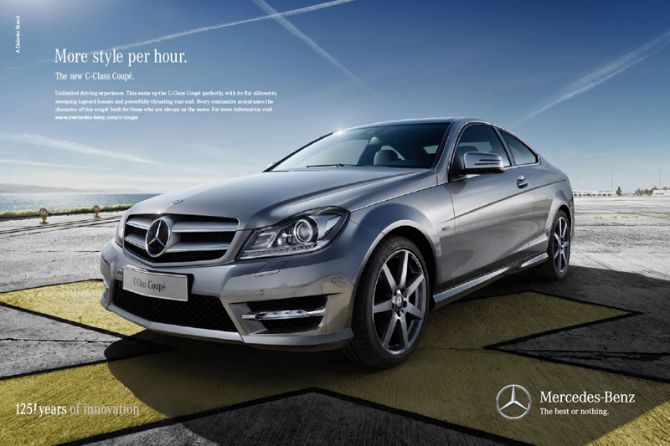 Mercedes Benze advertisement