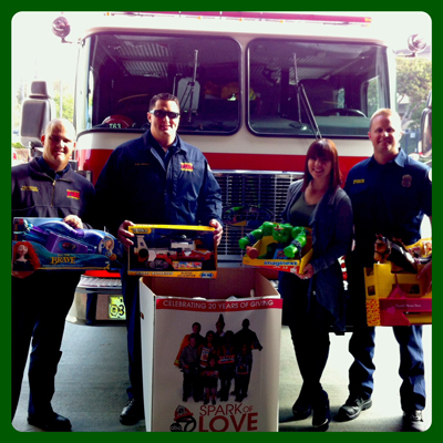 Adopt A Highway donating toys