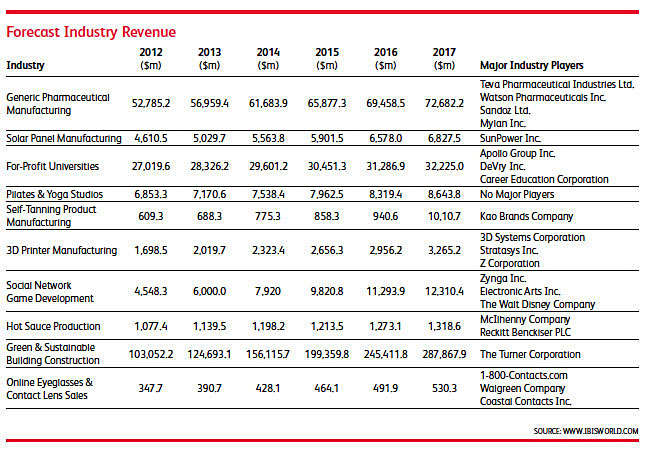 Forecast Industry Revenue